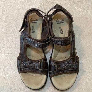 Clarks Women's Morse Tour Brown Sandal Size 9